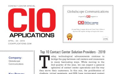Top 10 Contact Center Solutions Providers 2019